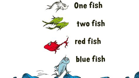 one fish two fish red fish blue fish book by dr seuss