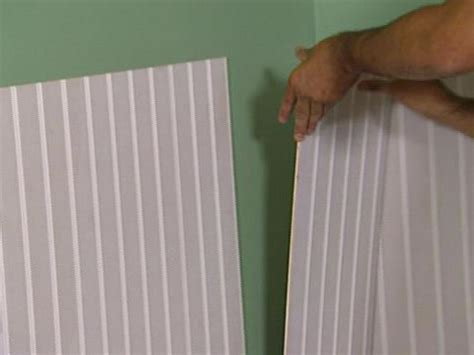 How To Put Up Wainscoting Panels How To Install Beadboard Wainscoting How Tos Diy