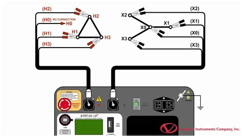 transformer ratio test diagram performing a transformer turns ratio test with the