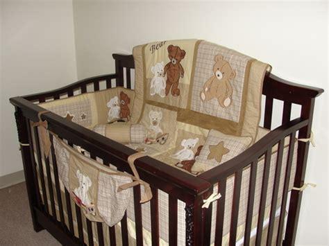 Teddy Crib Sets by Boutique Baby Teddy 13pcs Crib Bedding