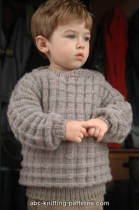 boy sweater knitting pattern abc knitting patterns boy s cuff to cuff sweater