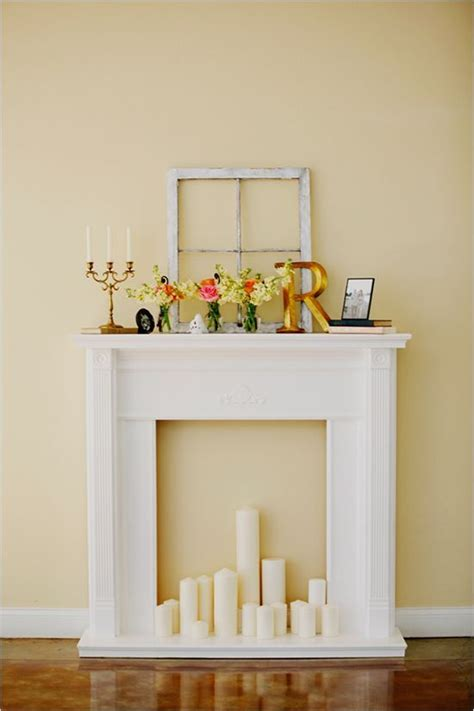 faux fireplace candles home decor
