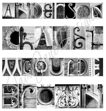 architectural letters framed