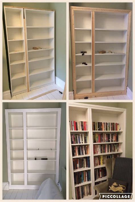 prefabricated bookcases look like built ins ikea hack billy bookcase modified to look like built in