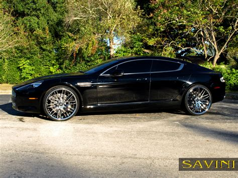 chrome aston martin rapide savini wheels