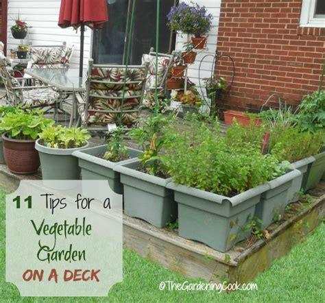 11 Tips For Growing A Vegetable Garden On A Deck The Deck Vegetable Garden