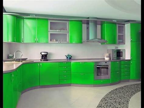 Green Kitchen Islands اخر ديكورات مطابخ مودرن باللون الأخضر 2016 2017 Model