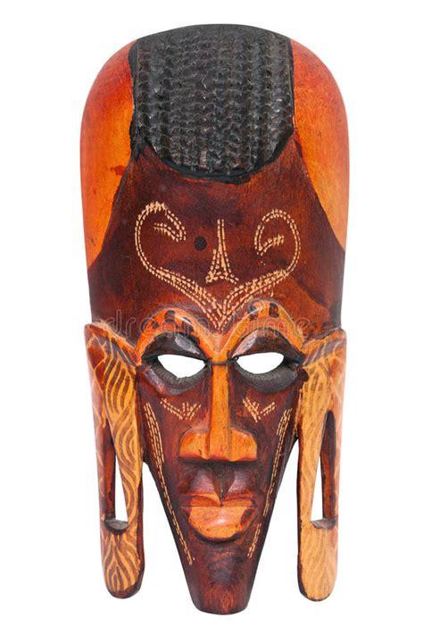 Masker Cultusia de afrikaanse sneed het houten masker strijdersmaasai stock afbeelding afbeelding