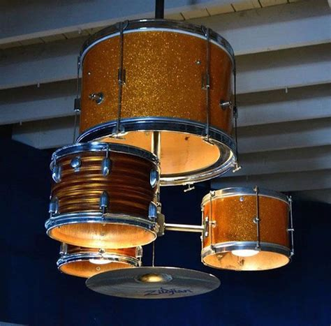 Chandelier Ceiling Light 12 Creative Uses Of Old Drums Throughout The Home