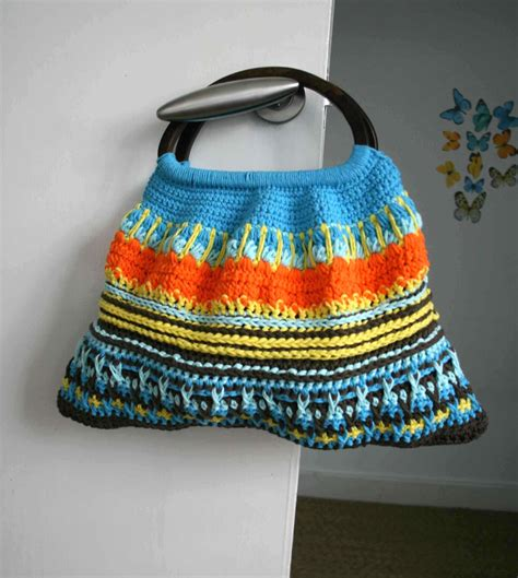 crochet bag with handles pattern crochet pattern wooden handle crochet purse retro style