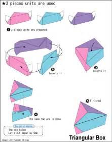 De Origami - origami triangular box