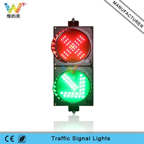 200mm red cross green arrow mini guide light led traffic
