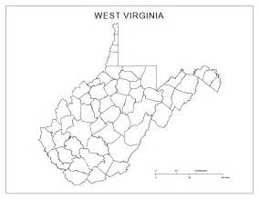 Map Of West Virginia Counties by West Virginia Blank Map