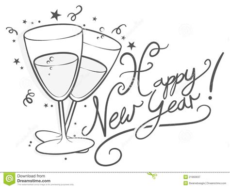 Happy New Year Black And White Clipart new year 2016 black and white clipart clipart suggest