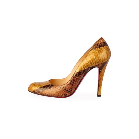 Promo Chanel Classic Snake Co1 Semi Ori christian louboutin so kate watersnake pumps brown gold s 35 5 3 luxity