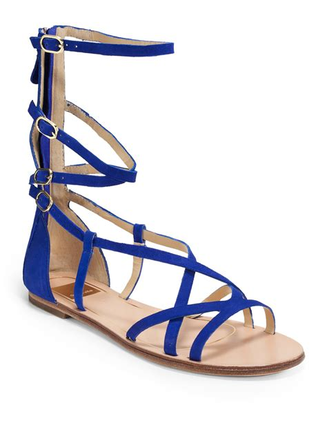 blue gladiator sandals dolce vita caitlyn suede gladiator sandals in blue lyst