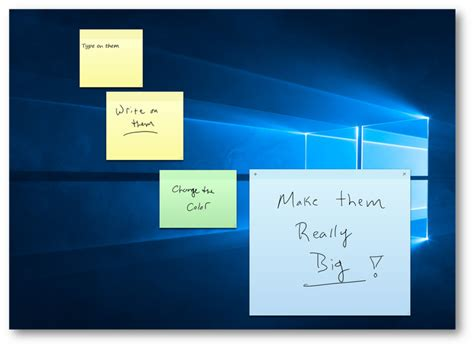 from the desk of sticky notes sticky notes in vista desktop todayadvance7g com