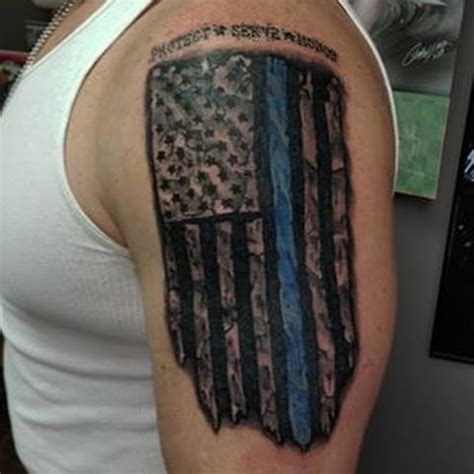 thin blue line tattoos thin blue line flag policeofficer