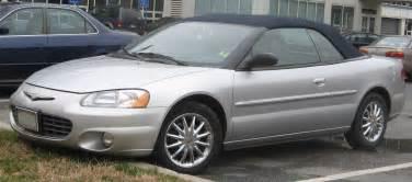 Chrysler Sebring 2003 Convertible File 2001 2003 Chrysler Sebring Convertible Jpg
