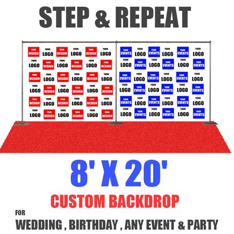 8x20 Step And Repeat Banner Eventbackdropbanner Com Backdrop Banner Template