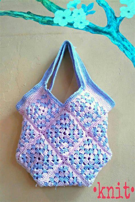 jual mini square bag tas rajutan knit