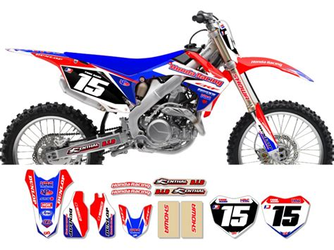 Decal Crf Kode 011 015 honda race team graphic kit team issue blue