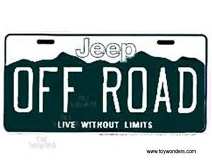 Jeep Number Plates License Plate Jeep Road Sign Slajo