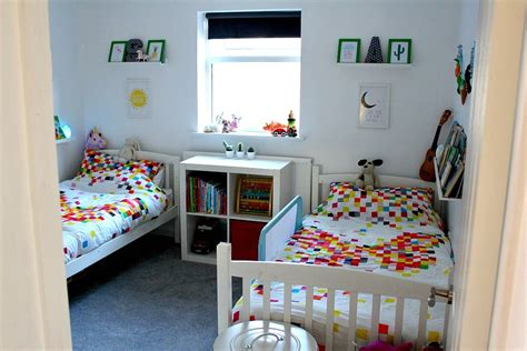 small shared bedroom children s small bright shared bedroom reveal just