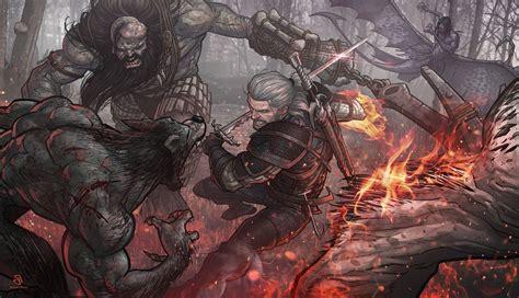 wild hunt witcher 3 werewolf the witcher 2 assassins of kings werewolves the witcher