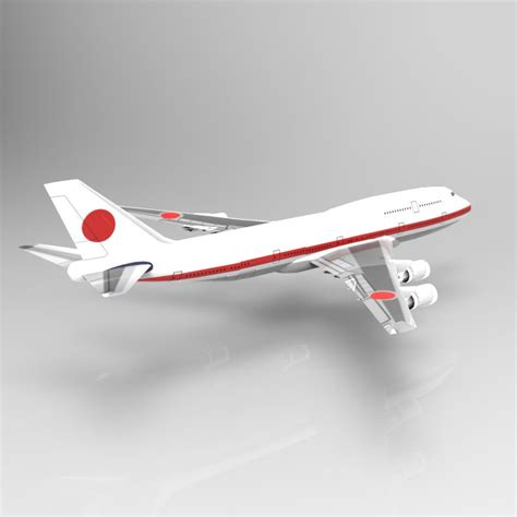 commercial model planes boeing 747 400 aircraft 3d model game ready obj