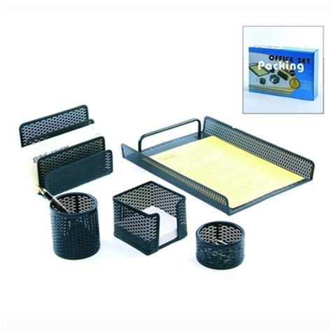 office desk accessories set mesh desk organizer set black all in one office desk