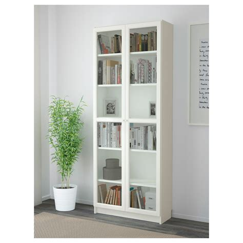 ikea bookcase white billy oxberg bookcase white 80x202x30 cm ikea