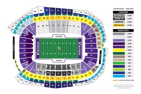 nd stadium seating chart new vikings stadium seating chart minnesota vikings