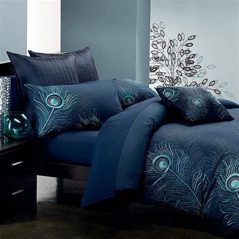 Peacock Blue Quilt by Cotton Duvet Cover Sets