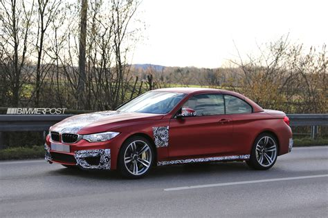 red bmw m4 bmw m4 convertible f83 reveals nearly all frozen white