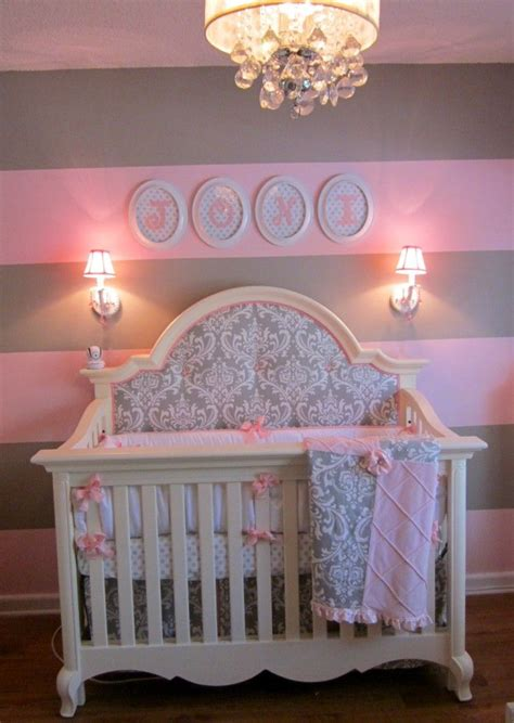 Pink And Gray For Baby J Extra Fabric Baby Bedding And Stella Gray Crib Bedding