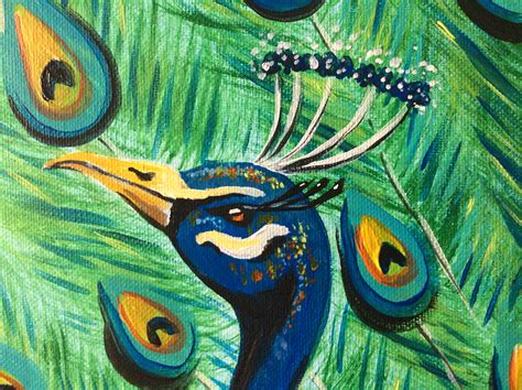 painting painting stunning peacock painting no frame