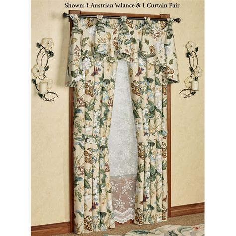 williamsburg curtains garden images iii floral austrian valance window treatment