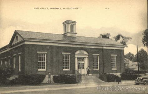 Whitman Post Office post office whitman ma postcard