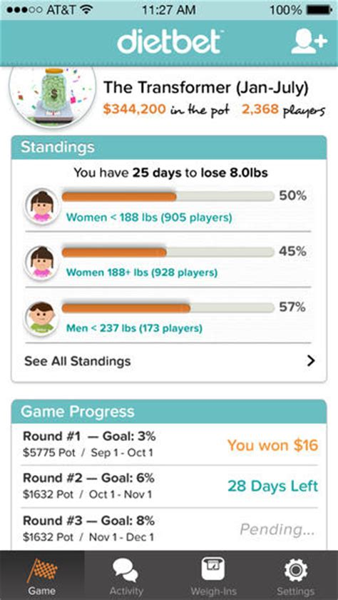 Win Money By Losing Weight - dietbet app review make losing weight profitable and fun apppicker