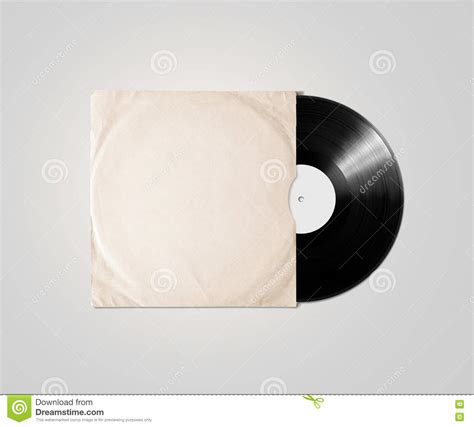 clear plastic l shade covers blank vinyl album cover sleeve mockup clipping path