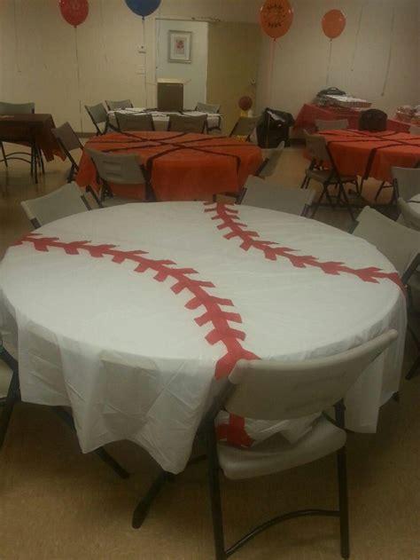 How To Make A Table Cloth by Baseball Table Cloth Birthday Baseball