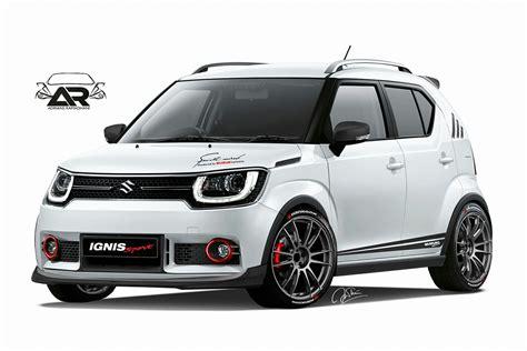 Suzuki Ignis Spoiler Jsl Warna Custom Spoiler M Sporty maruti ignis sport rendering