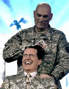 general hairvuts what s the buzz stephen colbert gets military cut on uso