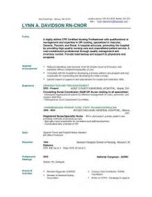 Exle Rn Resume by Nursing Resume Templates Easyjob Easyjob