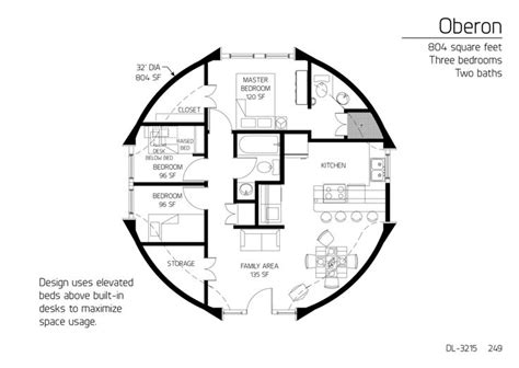 Floor Plan Dl 3215 Monolithic Dome Institute | floor plan dl 3215 monolithic dome institute house