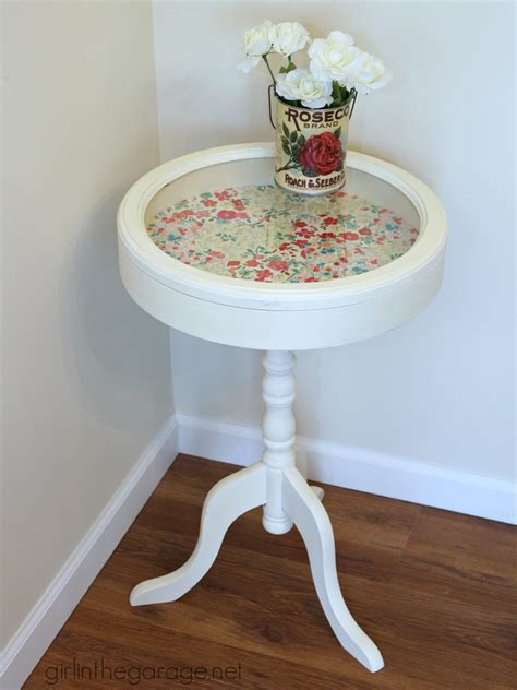 Decoupage Table - patchwork decoupage table makeover in the garage 174