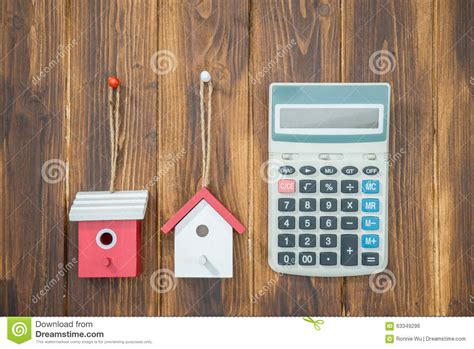 loan calculator for house mortgage calculator house with calculator stock photo