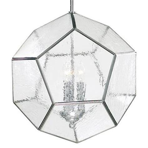 seeded glass pendant light fixtures polished silver modern seeded glass pentagon pendant light