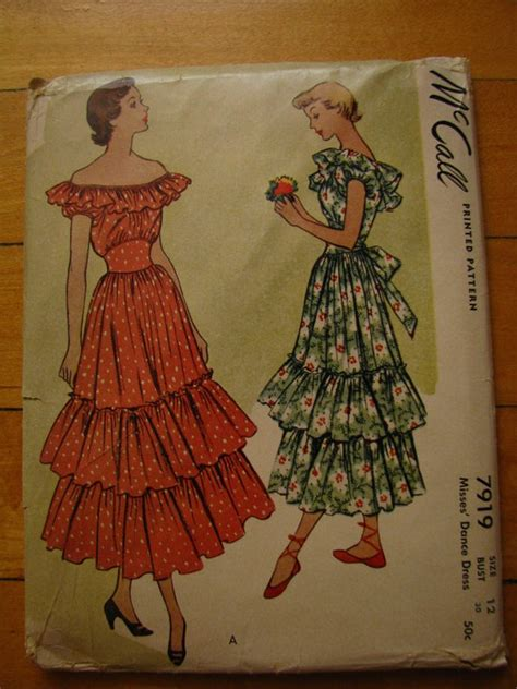pattern for spanish dress mccalls spanish dress pattern 1940s 7919